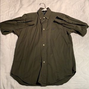 Army green Ralph Lauren button up